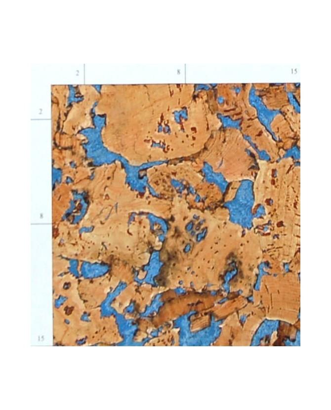 Liège de décoration murale double épaisseur - 6 mm par 6 dalles soit 1,08 m² bleu - 155/6/grace