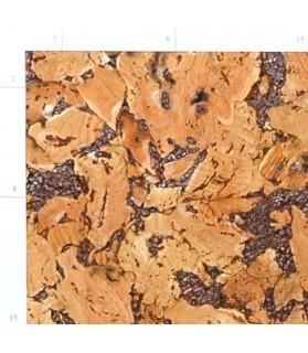 Liège de décoration murale double épaisseur - 6 mm par 6 dalles soit 1,08 m² marron - 158/6/ophelia