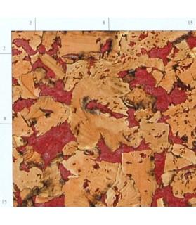 Liège de décoration murale double épaisseur - 6 mm par 6 dalles soit 1,08 m² rouge - 153/6/helen