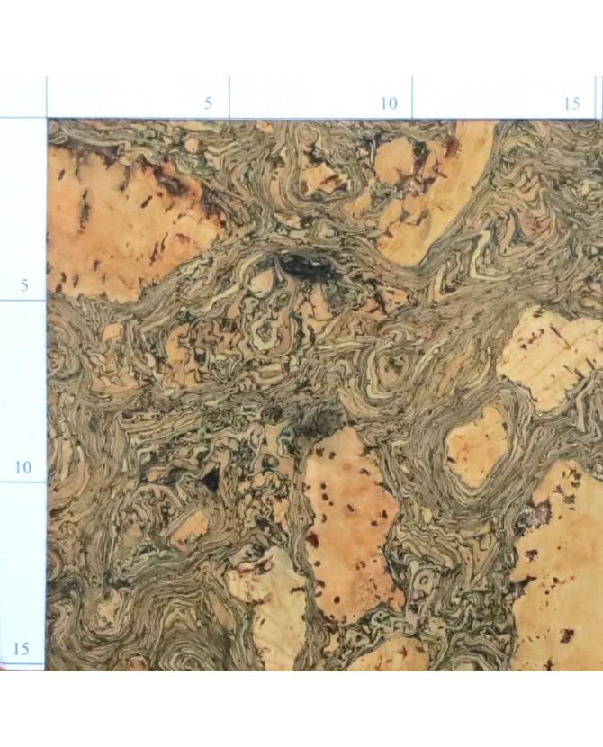 Parquet liège topaz sol à coller vernis satin - 6 dalles de 60 x 30 cm soit 1,08 m² - 302 topaz c