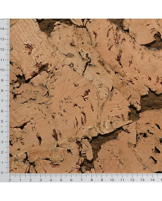 Liège de décoratif mural décor contre-collé - 3 mm par 5 dalles de 60 x 30 cm soit 0,90 m² - 44/ls25 foncé