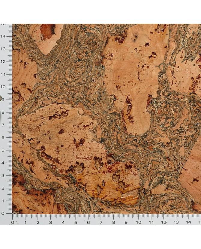 Liège de décoratif mural décor contre-collé coloré brun - 3 mm par 5 dalles de 60 x 30 cm soit 0,90 m² - 46/poitou brun
