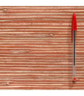 paille japonaise rustique vieux rose/naturel 828