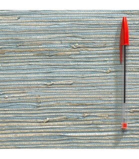 paille japonaise rustique bleu/naturel 829