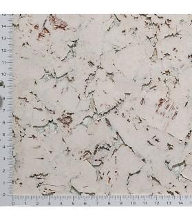 Liège de décoratif mural décor contre-collé coloré blanc - 3 mm par 5 dalles de 60 x 30 cm soit 0,90 m² - 49/blanc