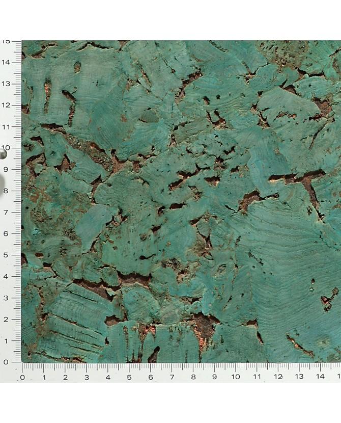 Liège de décoratif mural décor contre-collé coloré vert - 3 mm par 5 dalles de 60 x 30 cm soit 0,90 m² - 51/vert