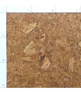 lot de 3 paquet Parquets liège pose collé ruby - 6 plaques de 60 x 30 cm soit 1.08 m² - ruby serie C