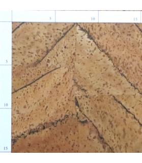 Lot de 4 Parquets liège à coller - 6 plaques de 0.60 x 30 cm soit 1.08 m² - série C