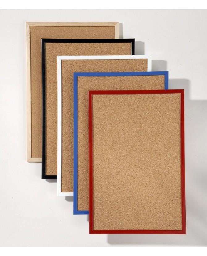 Tableau memocolor 40x60 tableau affichage liège rouge