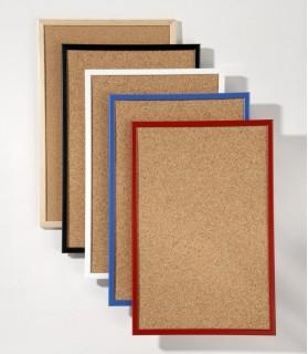 Tableau memocolor 90x60 tableau d'affichage liège rouge